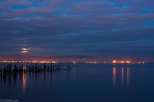 Blue Moon Rising Over San Francisco Bay