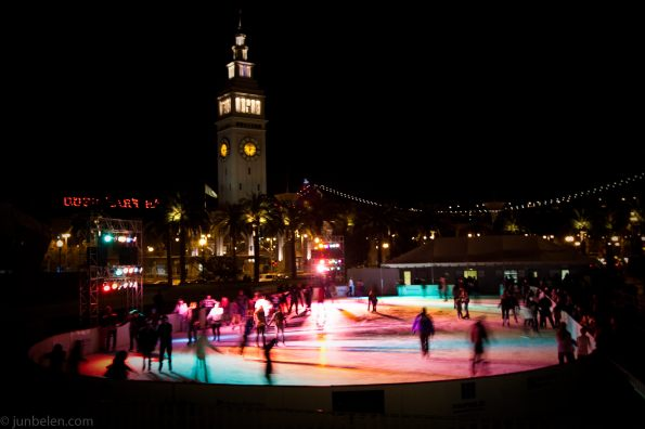 Holiday Skating at the Embarcadero Center in San Francisco