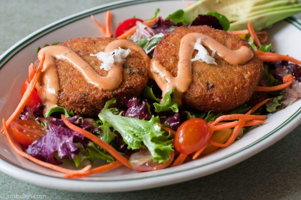 Crab Cakes at Woodhouse Fish Company