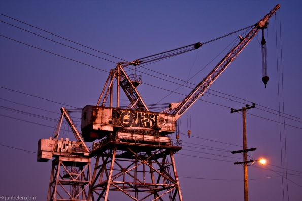 Cranes with Graffiti in the Dogpatch