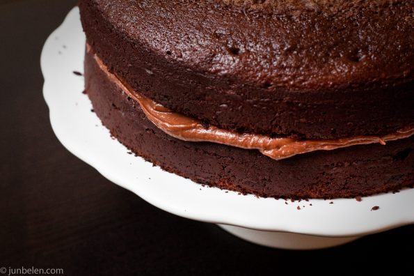 Chocolate Cake with Chocolate and Peanut Butter Frosting