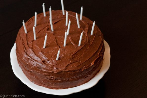 Chocolate Cake with Chocolate and Peanut Butter Icing